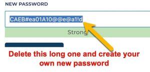 Create your new password here